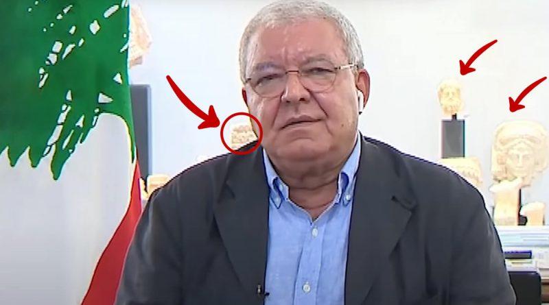 politico libanes piezas robadas